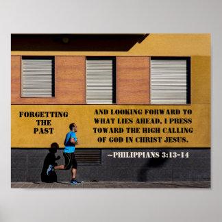 Philippians 3:13-14 Press toward the high calling ポスター