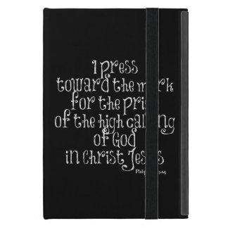 Philippians 3.14の聖書の詩 iPad mini ケース