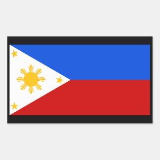 Philippines 長方形シール・ステッカー