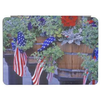 Philipsburgモンタナの旗そして花 iPad Air カバー