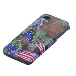 Philipsburgモンタナの旗そして花 iPhone 4 Case
