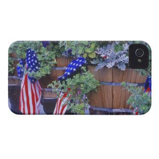 Philipsburgモンタナの旗そして花 iPhone 4 Case-Mate ケース