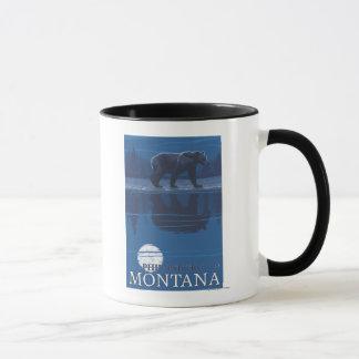 Philipsburg、月光のMontanaBear マグカップ