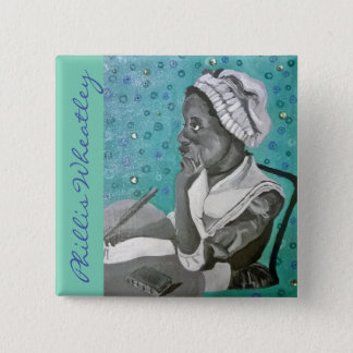 Phillis Wheatley 5.1cm 正方形バッジ