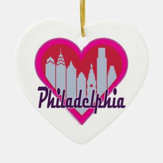 Phillyのスカイラインのハート セラミックオーナメント