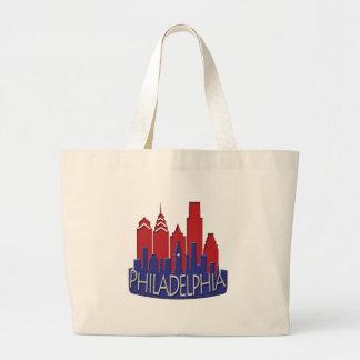 Phillyのスカイラインのnewwaveの愛国者 ラージトートバッグ