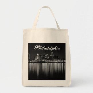 Philly夜b/w トートバッグ