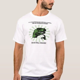 Philosoraptorの人および女性 Tシャツ