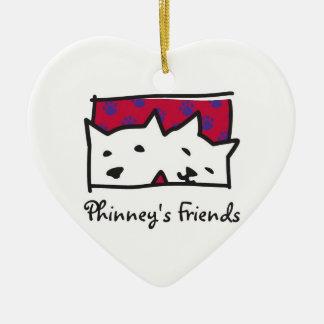 Phinneyの友人のクリスマスのオーナメント セラミックオーナメント