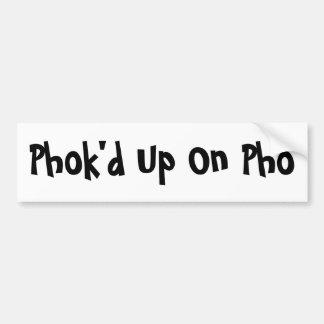 PhoのPhok'd バンパーステッカー