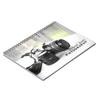 Photagraphyのカメラマンのカメラレンズ ノートブック