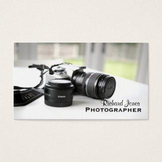 Photagraphyのカメラマンのカメラレンズ 名刺