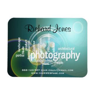 Photagraphyのタイポグラフィの《写真》ぼけ味のカメラマン マグネット