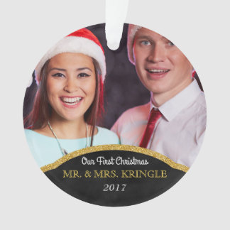 Photo私達の初めてのクリスマス氏および夫人 オーナメント
