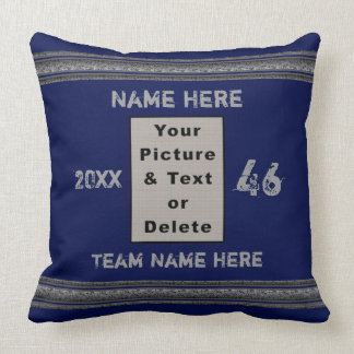 Photo and Personalized Sports Pillows Your Colors クッション
