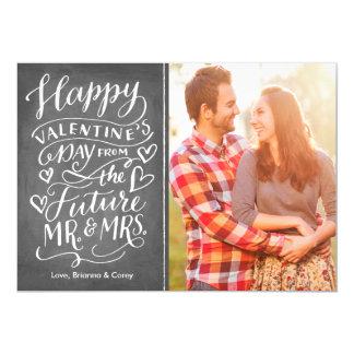 Photo Save Dateバレンタインの未来の氏および夫人 カード