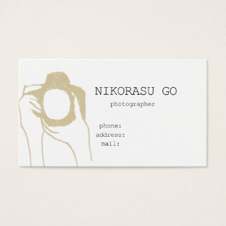 photographer 名刺