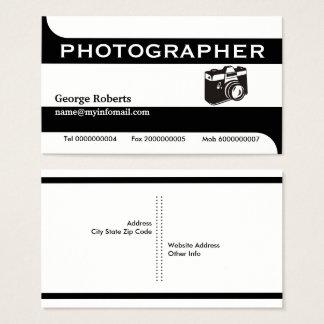 Photographer camera black, white modern 名刺