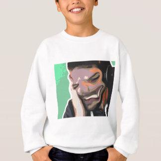 Photoshopの抽象的なポートレート-曖昧な笑い声 スウェットシャツ