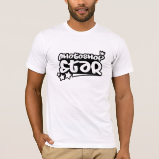 Photoshopの星のTシャツ Tシャツ