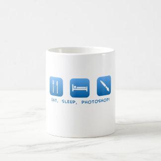、Photoshop食べて下さい、眠らせて下さい コーヒーマグカップ