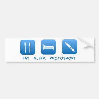 、Photoshop食べて下さい、眠らせて下さい バンパーステッカー