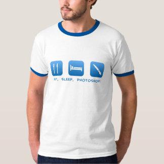 、Photoshop食べて下さい、眠らせて下さい Tシャツ