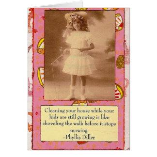 Phyllis Dillerの引用文のコラージュカード カード