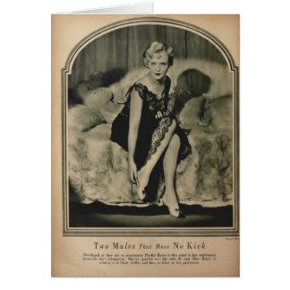 Phyllis Haver映画雑誌のポートレート1928年 カード