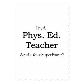 Phys。 エド。 先生 12.7 x 17.8 インビテーションカード