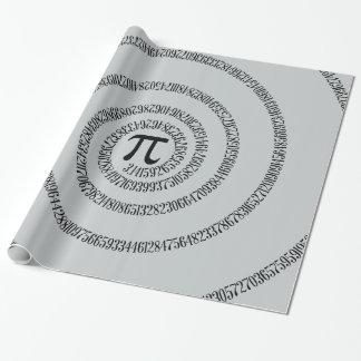 Piのかちりと言う音のためのねじれは灰色色を変えるためにカスタマイズ ラッピングペーパー