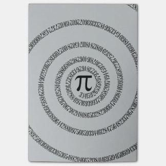 Piのかちりと言う音のための螺線形は変更の灰色の装飾をカスタマイズ ポストイット