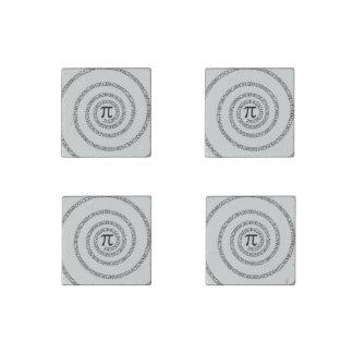 Piのかちりと言う音のための螺線形は変更の灰色色をカスタマイズ ストーンマグネット
