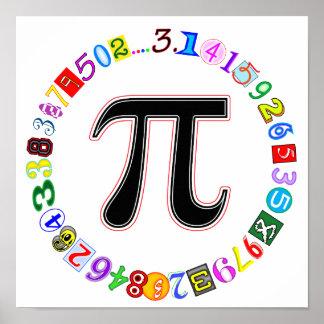 Piのカラフルそしておもしろいの円 ポスター