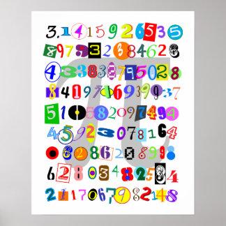 Piのカラフルそしておもしろいの描写 ポスター