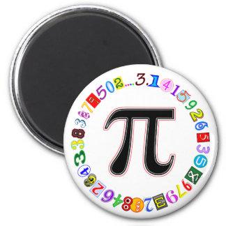 Piのカラフルそして計算されるおもしろいの円 マグネット
