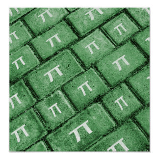 Piのグランジなスタイルパターン ポスター