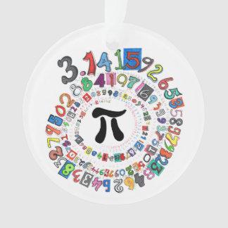 Piのディジットはカラフルな螺線形を形作ります オーナメント