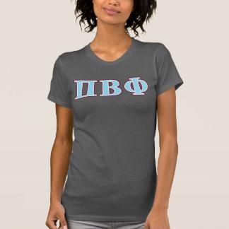 Piのベータファイのあずき色および青の手紙 Tシャツ