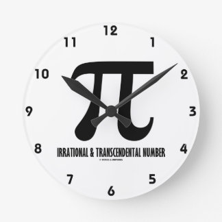 Piの不合理な、超越数(数学) ラウンド壁時計