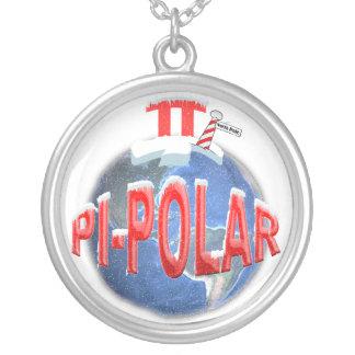 PIの北極のネックレス-両極をはずして下さいおもしろいな シルバープレートネックレス