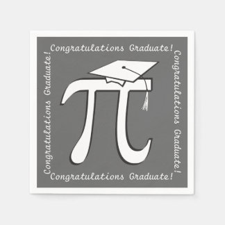 Piの卒業-数学の卒業生のテーマの紙ナプキン スタンダードカクテルナプキン