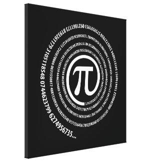 Piの印、螺線形版 キャンバスプリント