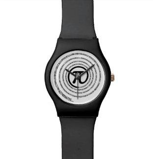 Piの印、螺線形 腕時計