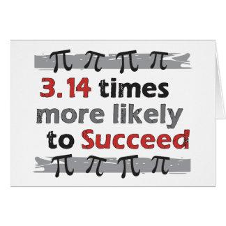 Piの成功のおもしろいな数学の卒業 カード