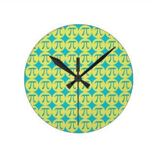 Piの時間 ラウンド壁時計