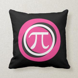 Piの記号のピンクおよびクールな円 クッション