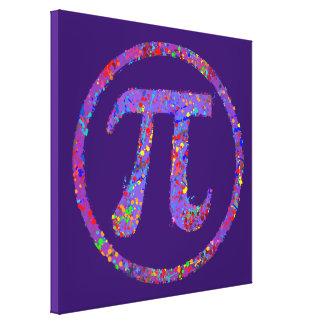 Piの記号の行為の絵画の(ばちゃばちゃ)跳ねる キャンバスプリント