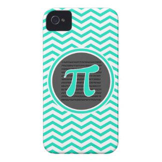 Piの記号; 水緑のシェブロン Case-Mate iPhone 4 ケース