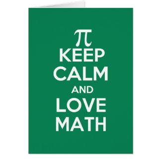 piは平静および愛数学を保ちます カード